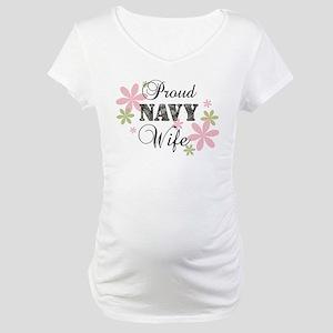 Navy Wife [fl camo] Maternity T-Shirt